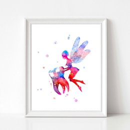 fairy canvas art UK - Tooth Fairy Watercolor Art Canvas Poster Painting Teeth Anatomy Stomatology Wall Picture Print Dental Clinic Doctor Office Decor