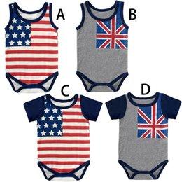 $enCountryForm.capitalKeyWord Australia - Independence Day Baby Boys Girls Rompers US UK Flag Blue Red Striped Star Printing Lovely Newborn Sleeveless Bodysuits Summer Baby Onesies