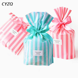 cheap food gifts Canada - Cheap Gift Bags & Wrapping Supplies Wedding Favors Cute Bow Tie Stripe Cookie Candy Gift Bags for Candy Biscuits Snack Baking Package