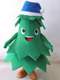 tree costumes Australia - 2019 High quality hot plush blue hat christmas lovely tree mascot costume for adult to wear party holiday