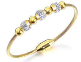 14k Gold Bracelets Australia - Hot sale new women fashion jewelry 18K gold plated lucky beads bracelet girlfriend wife mother birthday festival gift