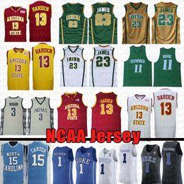 7882f69e0 Ncaa Nikola 15 Jokic Kyrie 11 Jersey Irving LeBron 23 James 13 Harden Kobe  33 24 Bryant Irish High School University Basketball Jerseys