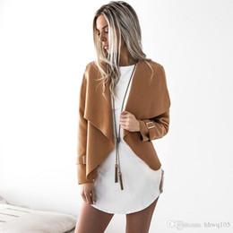$enCountryForm.capitalKeyWord Australia - Women Wool Blend Short Jacket Gray Black Camel Burgundy Long Sleeve Shawl Collar Winter Jackets Outwear Cheap Clothes DYG0908