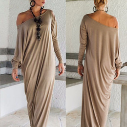 long sleeve maxi dresses Australia - Fashion Womens Maxi Long Dress Long Sleeve Casual Sexy Fall Full Sleeve Loose Wrap Oversize Irregular Elegant Party Dresses vestidos