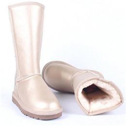 White Faux Fur Shorts Australia - 2019women boots Australian Boots ug Women Snow Boots Waterproof Leather Winter Warm Outdoor Short Boot Winter Shoes designer shoes