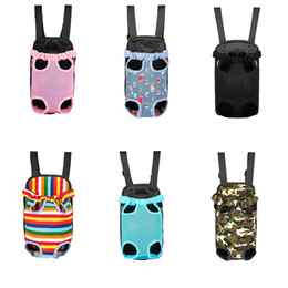 $enCountryForm.capitalKeyWord Australia - Outdoor Breathable Mesh Dogs Cats Crates Crate Cages Portable Pet Travel Totes Carrier Bags Wholesale Legs Out Dog Backpack 6.5