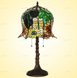 table resin UK - Free Shipping European Mediterranean Table Lamps Colorful Glass D35cm H65cm Style Bedroom Bedside Decor E27 AC 110V-240V LLFA