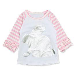$enCountryForm.capitalKeyWord Australia - Child T-shirts Toddler Kids Baby Girl Striped Cartoon Rabbit Casual Princess T Shirt Tops 12M-5T child A20