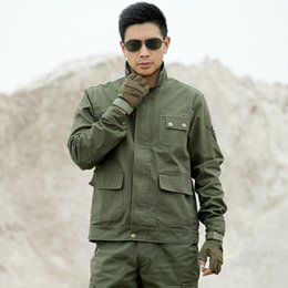 $enCountryForm.capitalKeyWord NZ - 2018 New arrival Tactical Uniform suits Multi-pocket Embroidery equipment clothing Army Green working Sets