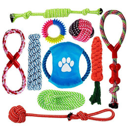 Knot Pack Australia - Practical Dog Rope Toys,10 Pack Puppy Chew Toys Set Dog Cotton Rope Knot And Teeth Cleaning For Small Medium Large Breeds-Indo