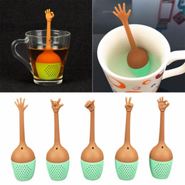 black leaf tea 2020 - High quality Funny Hand Gestures Tea Infuser Black Tea Strainer FDA Grade Silicone Loose Leaf Herbal Spice Holder Tea Br