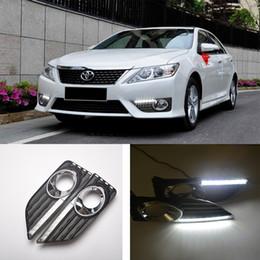$enCountryForm.capitalKeyWord Australia - ECAHAYAKU daytime Running Light Fog light High Quality LED DRL car styling for Toyota Camry 2012 2013 driving lamp 12V 24v 6000K