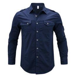 $enCountryForm.capitalKeyWord Australia - Spring 2017 Men's Long Sleeve Denim Cargo Shirts Plus Asian Size M-5xl Shirt Men Cotton Y190506