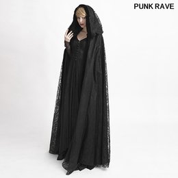 479f70f57e37 Halloween Vampire Costume Gothic Style Witch women Long Cape Coat Victorian  Fashion Lace Hooded Long Cloak Cape PUNK RAVE Y-629