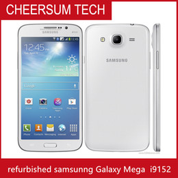 Wholesale android cell phones 1g resale online - Original Samsung Galaxy Mega I9152 G Cell Phone Inch Dual Core Android4 G RAM G ROM Refurbished Smart Phone