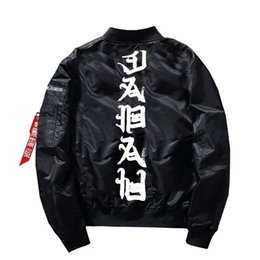 $enCountryForm.capitalKeyWord Australia - Men Bomber Evil Spirit Print Jacket Hip Hop Mens Autumn Clotnhing Male Fashion Thin Jackets And Coats Us Size S-XL