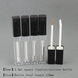 Lip Shapes Australia - 3.5ml Square shape lip gloss eyeliner oil case lip gel bottle container empty pakcage Free shipping moq 250pcs