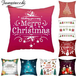 $enCountryForm.capitalKeyWord Australia - Fuwatacchi Merry Christmas Cushion Cover Xmas Bell Tree Gift Throw Pillow Covers for Home Sofa Decorative Pillowcases 45*45cm