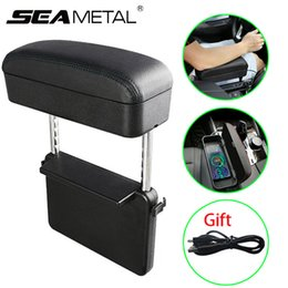 Organizer stOrage cOntainers online shopping - Car Accessories Car Center Console Armrest Organizer Seat Storage Box Leather Auto Holder Container Arm Rest Wireless Charge