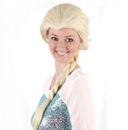 sci fi costumes wholesales Australia - Princess Blonde Adult Weaving Braid Halloween Cosplay Party Wig