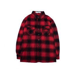 Wholesale Designer original high quality fashion shirt casual Plaid Shirt Sleeved Shirt Mens youth iron manufacturers