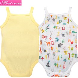 cool baby clothes UK - y472-2 Baby Ultra thin cotton mesh sling clothes seamless bones summer cool baby clothes Wrapped ass clothes 2 piece set