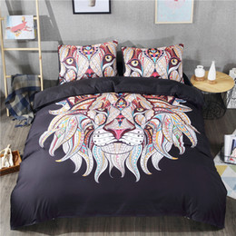 547b67250a81 Lion with Gems 3D Bedding Sets Printed Duvet Cover Set 3pcs Set Queen King  Twin Size