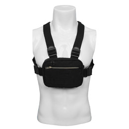 Wholesale Men Chest Pack Rig Hip Hop Streetwear Unisex Cool Functional Tactical Shoulder Anti Theft Waist Bag Purse Punck Style Backpack
