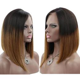 $enCountryForm.capitalKeyWord Australia - Celebrity wigs full lace wig bob style 12inch ombre 1b 30 bob wig layer straight malaysian human hair lace frontal wig free shipping