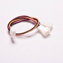 China 3 Pin PC Computer Case Fan Power Y Splitter Cable Lead 1 Female to 2 Male Motherboard Connector 15cm suppliers