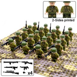 $enCountryForm.capitalKeyWord Australia - 20pcs lot Ww2 Allied Troops Soldier Army Military Figures Weapons Building Blocks Bricks Toys For Boys MX190730