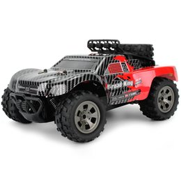 Green Truck Cars Australia - 1885-B Large Tires RC Car 2.4G 1 18 18km H Drift Remote Control RC Off-Road Car Desert Truck RTR Toy Kids Child Xmas Gifts
