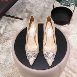 Chinese  2019 new Famous brand designer high-heel dress shoes for women The high quality nail beads women high heels shoes manufacturers