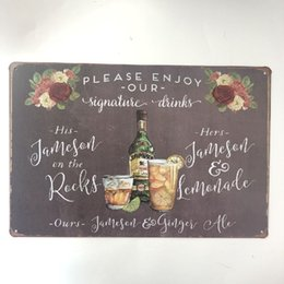 $enCountryForm.capitalKeyWord Australia - Please Enjoy Our Signature Drinks Decor Metal Nostalgia Tin Poster Pin up Girl Cafe Bar Home Wall Garage Christmas Vintage Art Custom