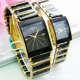 Water Resistant Wrist Watch Australia - Luxury Ceramic Water Resistant Sports Women Man Lovers' Wrist Watches Top Quality Black White Ceramic Rhinestone Dress Watches
