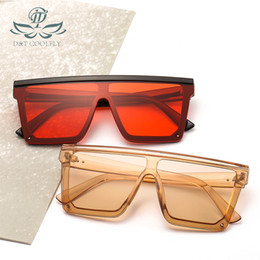 modern new sunglasses NZ - D&T New Fashion Modern Square Sunglasses Trendy Classic Couple Cross-border Sunglasses Connecting Lens PC UV400