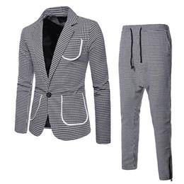 Large Lapel Suits Australia - Autumn and Winter Men's Wear Large Body Single Button Men's Lapel Suit Mens Suits with Pants