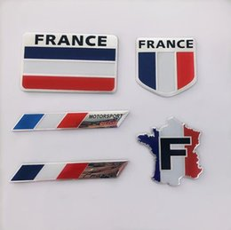 Sticker Vw 3d Australia - 2019 Fashion Quality 3D Aluminum France Flag car Badge Emblem 3M sticker accessories stickers For VW Audi chevrolet honda Car Styling