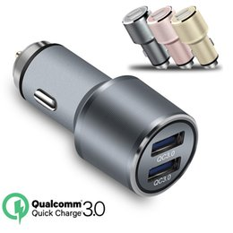 $enCountryForm.capitalKeyWord NZ - 36W 30W QC3.0 Car Charger Aluminum Alloy Hammer Safety Car Chargers Auto Adapter For iphone samsung tablet pc mp3 gps
