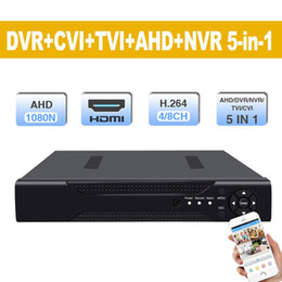 Ip Dvr 8ch Australia - 8 Channel DVR Hybrid 5-in-1 Disk Video Recorder Support Analogy+ TVI+CVI+AHD+960H IP) H.264 CCTV 8CH Standalone DVR Metal shell