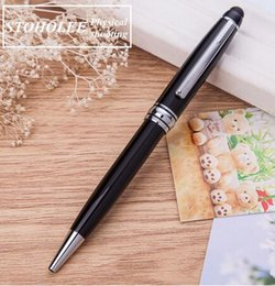 pen write touch screen Canada - Free Shipping ballpoint Pen All Metal Capacitance pen Medium nib 0.7mm Gift Office Suppliers Touch Screen Writing Pen
