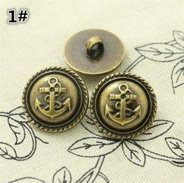 Venta al por mayor de 2.15 cm botón de corona de bronce para restaurar maneras antiguas traje hebillas de moda botón DIY accesorios de estilo británico retro 100 UNIDS / lote 4034
