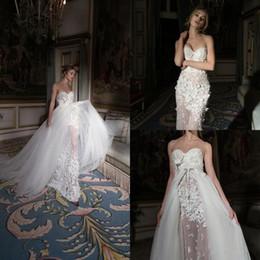 5f95a1607bc Inbal Dror 2019 Wedding Dresses with Detachable Train Lace Bridal Gowns  Sweep Train Mermaid Wedding Dresses Vestidos De Novia