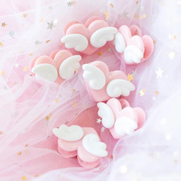 $enCountryForm.capitalKeyWord Australia - Climemo 5Pcs lot Cute Girl Heart Photo Clip, Loving Wing, Convenient, Small Cherry Animation Soft Girl Pink Office Accessories