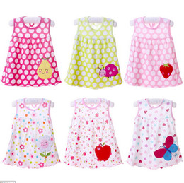 $enCountryForm.capitalKeyWord Australia - DHL 100pcs Newborn Baby Summer Dresses Girls O-neck Sleeveless Cotton Princess Mini Dress Child Cute Pattern Decor Dot Clothes