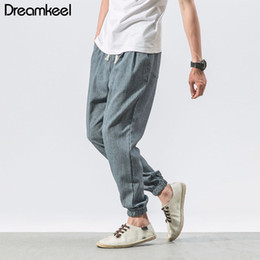 7a598c0425e Traditional Chinese Male Clothing NZ - Casual Harem Pants Men Jogger Pants  Men Fitness Trousers Male