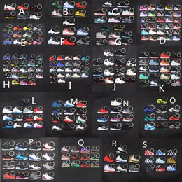 Sneaker Keychains Cute mini Silicone AJ keychain basketball shoes backpack pendant keyring creative gift force shoes keychain toys on Sale
