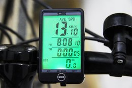 Wired Speedometer Australia - Light Mode Touch Wired Auto Bike Computer Bicycle Speedometer Odometer Stopwatch Water Resistant Large Screen with LCD Backlight