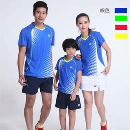 Sportswear T Shirt Badminton Australia - YON EXX Badminton Suit Sportswear for Men & Women & Kids Short Sleeve T-shirt for Leisure Running Basketball casual wear Table tennis Y16306