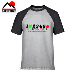 bf391f12 Classic number 12345 One Down Five Up T-Shirt Motocross Motorcycle Gear Men  Casual Big Size Tee Shirt 100% Cotton T Shirt